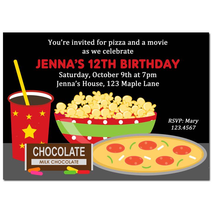 Movie Night - Pizza Candy Popcorn