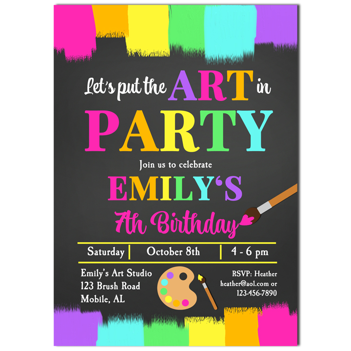 Painting Art and Crafts - Chalkboard