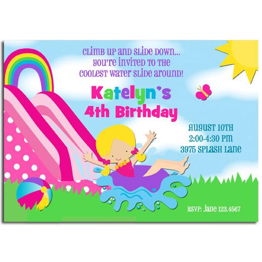 Girl's Water Slide - Rainbow Waterslide