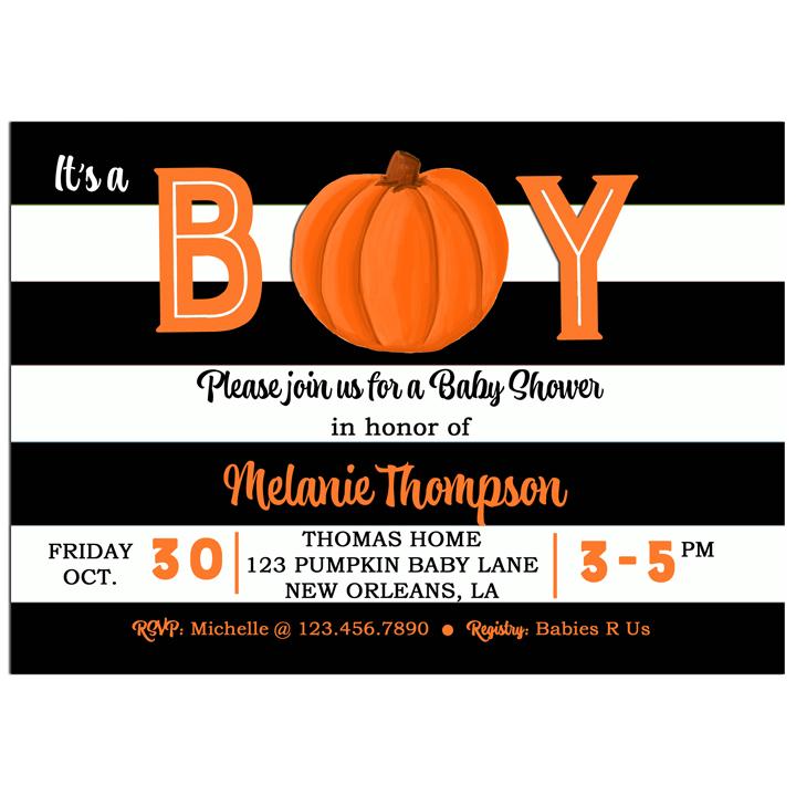Pumpkin Boy Stripe