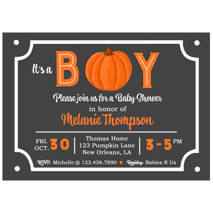 Pumpkin Boy Chalkboard