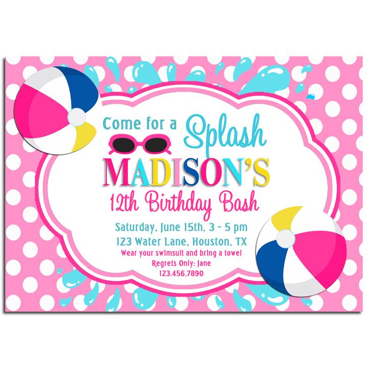 Splash Pool Party - Pink Beach Ball Splash