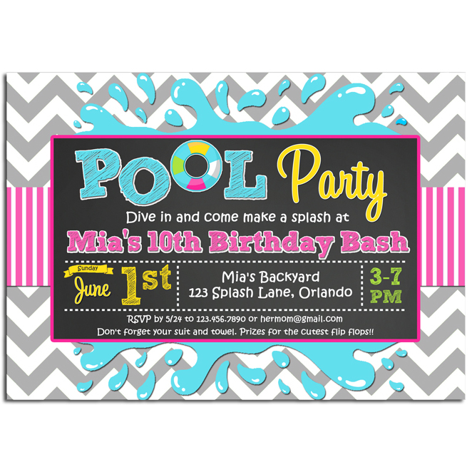 Pool - Splash Chalkboard