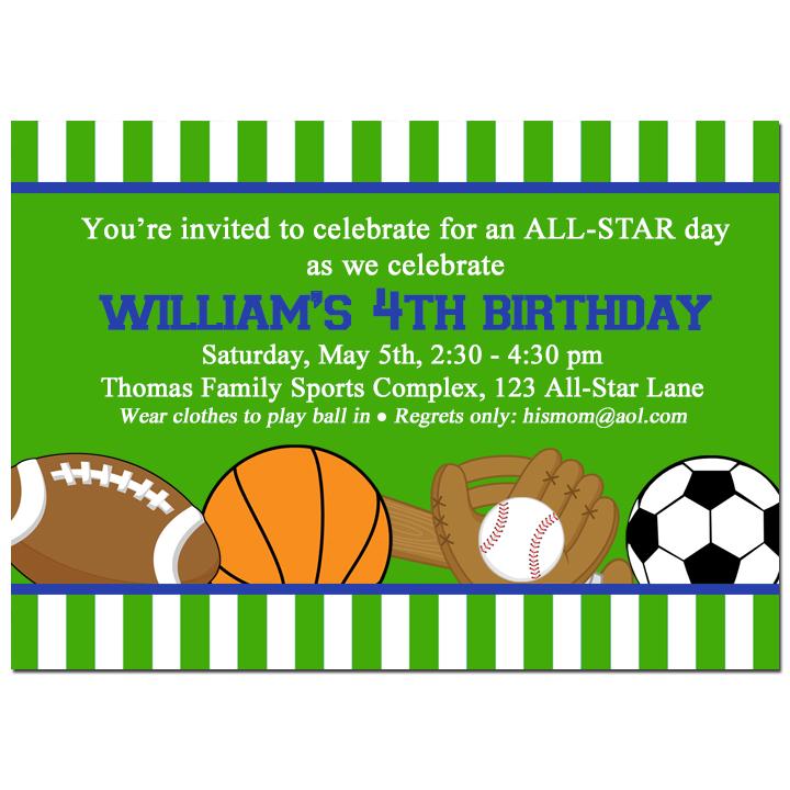 All Star Sports Green Stripe