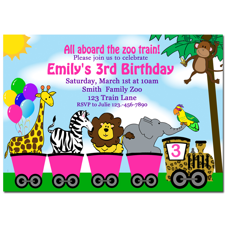 Girl's Animal Parade - Pink Zoo Train Collection