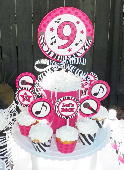 Rock Star Diva Personalized Centerpiece Toppers