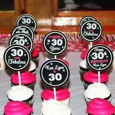 Birthday Cupcake Toppers for Adults Personalized Face Photo Cupcake Toppers Any age Printable 30th, 40th, 50th, 60th, 75th Birthday