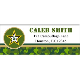 Camouflage Military Address Labels - Camo