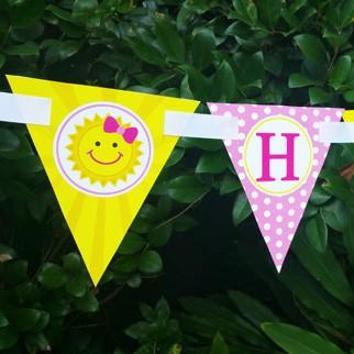 "Sunshine ""Happy Birthday"" banner"