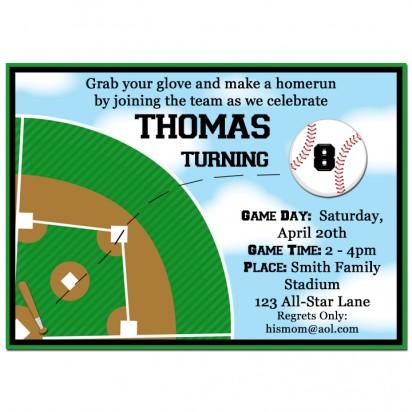 Baseball Homerun Invitation