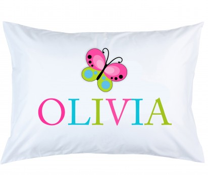 Personalized Butterfly Pillow Case