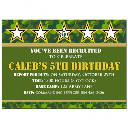 Camouflage Military Invitation - Camo