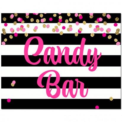 """Candy Bar""  8x10"" Sign - Girl's Confetti"