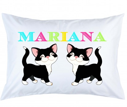 Personalized Cat Pillow Case