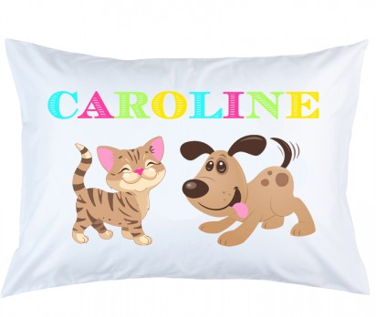 Personalized Cat and Dog Pillow Case