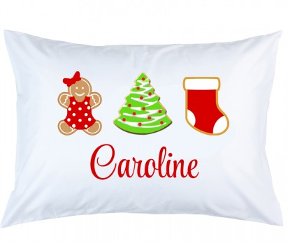 Personalized Christmas Cookies Pillow Case