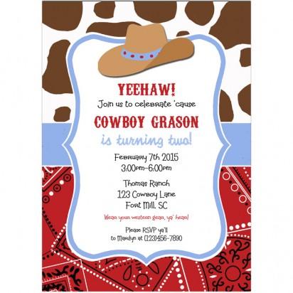 Cowboy Hat Invitation