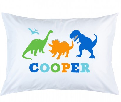 Personalized Dino Pillow Case
