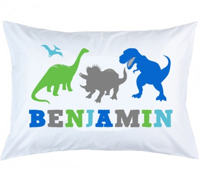 Personalized Dinosaur Pillow Case