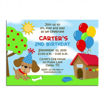Puppy Dog Invitation - Puppy Party Fun