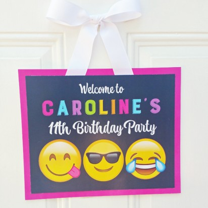 Emoji Party Door Sign