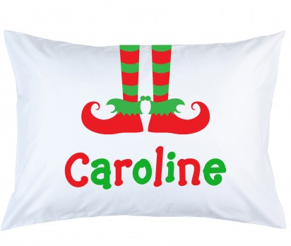 Personalized Elf Feet Pillow Case