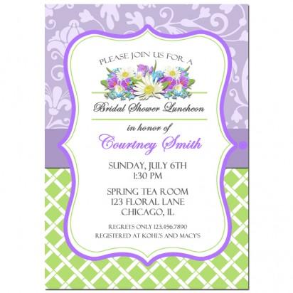 Lavender Floral Invitation