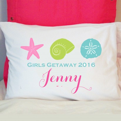 Personalized Beach Sea Shell Pillow Case
