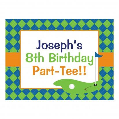 Golf Birthday Party Poster