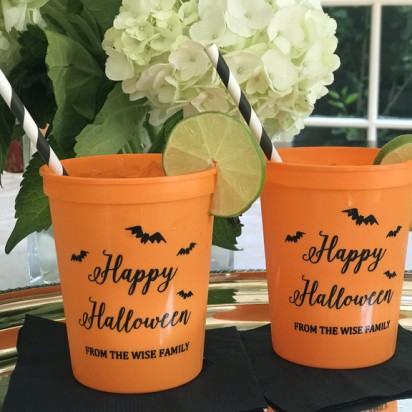 Halloween Personalized Stadium Cups