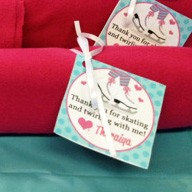 Ice Skating Love Favor Tags