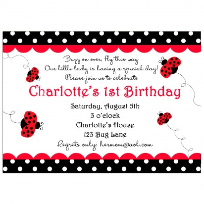 Ladybug Party Invitation - My Little Lady