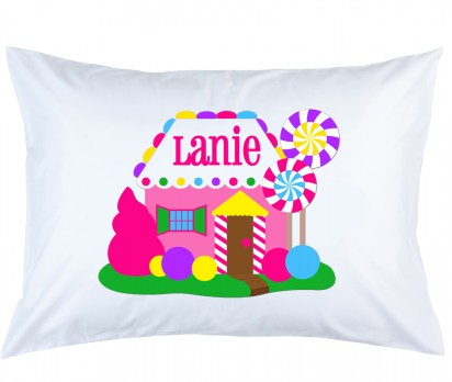 Personalized Gingerbread House Pillow Case