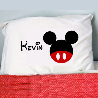 Personalized Mickey Mouse Inspired Pillow Case