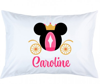 Personalized Minnie Mouse Carriage Pillow Case