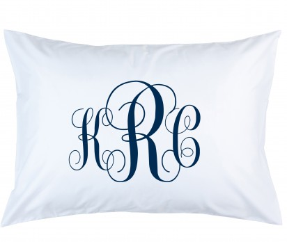 Personalized Script Monogram Pillow Case
