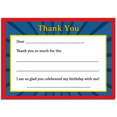 Movie Ticket Thank You Notes - Movie/ Showtime