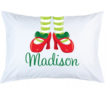 Personalized Mrs Claus Feet Pillow Case