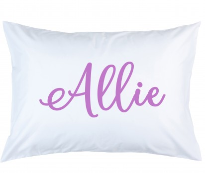 Personalized Purple Name Pillow Case