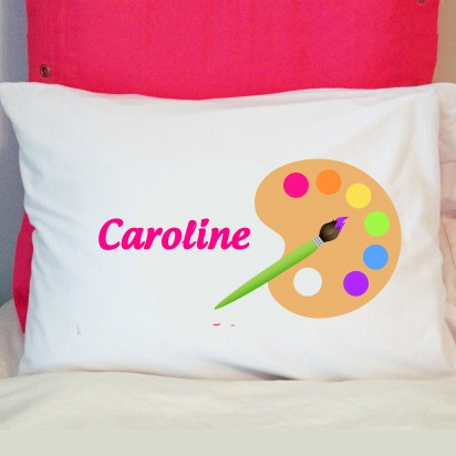Personalized Artist Palette Pillow Case