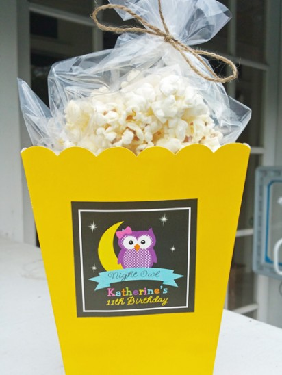Night Owl Pajama Party Favor Tag
