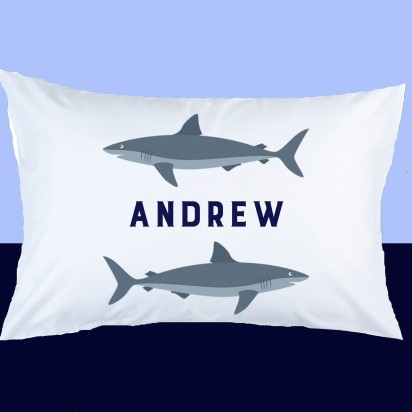 Personalized Shark Pillow Case