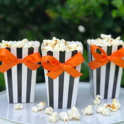 Halloween Popcorn Box with Bows10 Pack