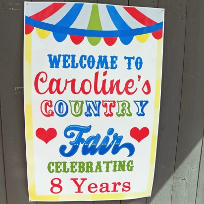 Country Fair Welcome Poster or Backdrop