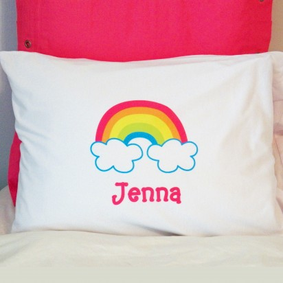 Personalized Rainbow Pillow Case