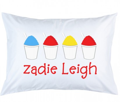 Personalized Snowball Pillow Case