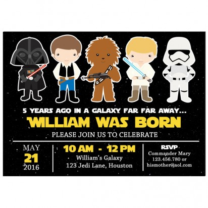 Star Wars Inspired Party Invitation