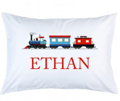 Personalized Train Pillow Case