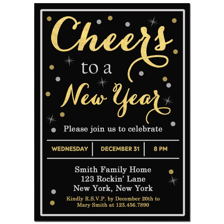Cheers New Year S Eve Party Invitation By That Party Chick