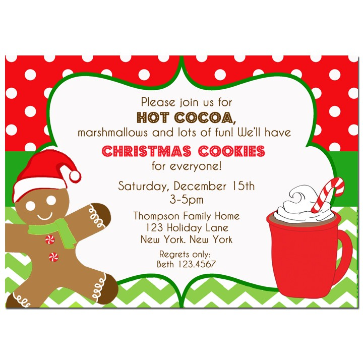Hot Cocoa And Cookies Christmas Party Invitation By That Party Chick
